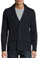 Ben Sherman Herringbone Cotton-Blend Cardigan