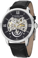 Stuhrling Original Sthrling Original Mens Black Dial Skeleton Automatic Watch