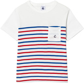 Petit Bateau White, Red and Blue Stripe Tee