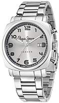 Pepe Jeans Howard Men's Quartz Watch with Silver Dial Analogue Display and Silver Stainless Steel Strap R2353111003