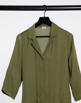 JDY Rappa 3/4 sleeve shirt in olive green