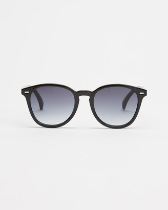 Le Specs Black Round - Bandwagon - Size One Size at The Iconic