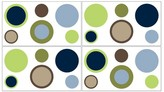 JoJo Designs Sweet Designer Dot Wall Decal Stickers- Blue-Green-White-Taupe