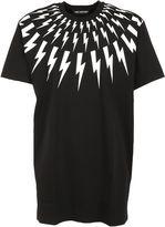 Neil Barrett Black/white Lightning Bolt Print T-shirt