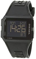 Diesel Chopped Digital Watch (Black) Watches
