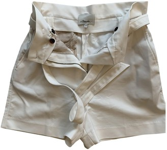 3.1 Phillip Lim White Cotton - elasthane Shorts for Women