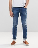 Paul Smith PS by Slim Jeans In Mid Wash Stretch