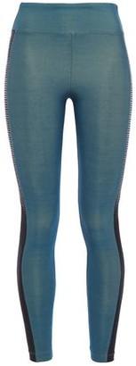 Koral Serendipity Mesh-trimmed Iridescent Stretch Leggings
