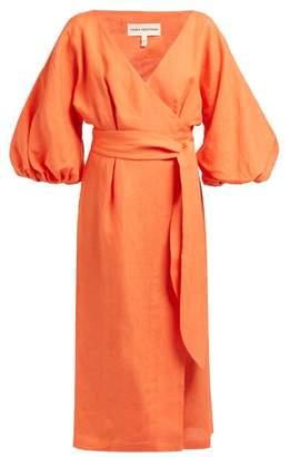 Mara Hoffman Francesca Wrap Hemp Midi Dress - Womens - Orange