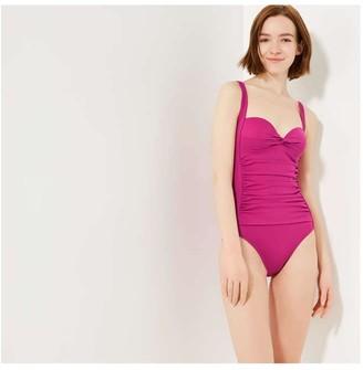 Joe Fresh Women's Twist Front Swimsuit, Magenta (Size M)
