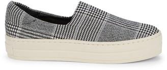 RENVY Plaid Slip-On Sneakers