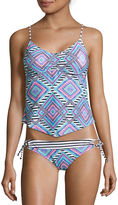 Arizona Diamond Fantasy Apron Tankini Swim Top