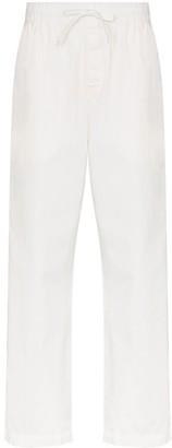 Tekla Drawstring Organic Cotton Pyjama Trousers
