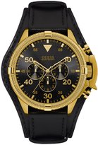 GUESS Black and Gold-Tone Bold Masculine Watch
