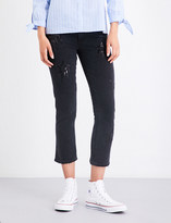 Paige Jacqueline sequin-embellished straight high-rise jeans