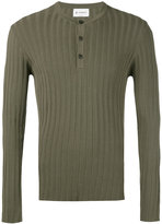 Dondup button up ribbed sweatshirt