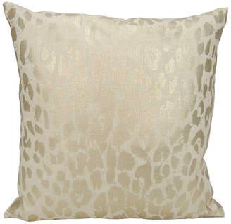 Kathy Ireland Metallic Leopard Gold Throw Pillow