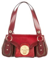 Etro Ponyhair & Leather Shoulder Bag