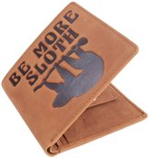 Mustard Be More Sloth Bifold and Coin Wallet