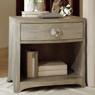 Global Views Bow Front 1 Drawer Chest Color: Gray
