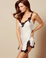 Agent Provocateur Gulia Short Slip Ivory And Black