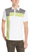 Calvin Klein Men's Short Sleeve Color Blocked Polo