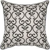 Kas Luminous 18-Inch Square Throw Pillow in Black/White
