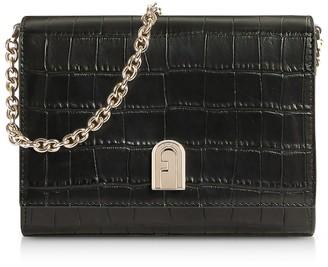 Furla Croco Embossed Leather 1927 Mini Crossbody Bag 18