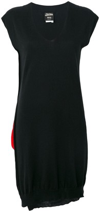 Jean Paul Gaultier Pre Owned contrast panel knitted dress
