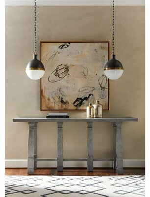 """Stanley Furniture Willow 76"""" Console Table Color: Pewter"""