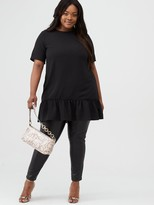 AX Paris Curve Dip Hem Tunic - Black