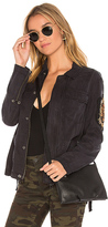 Pam & Gela Cargo Patch Jacket in Black. - size S (also in XS)