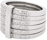Leonardo Women ring Lustrino stainless steel glass transparent size 53 (16.9) - 016061