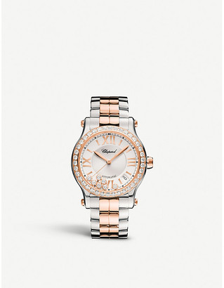Chopard 278559-6004 Happy Sport 18ct rose-gold and stainless steel watch
