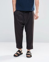 Asos Tapered Pants With Stripe Wool Look