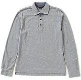Brooks Brothers Vintage Wash Patina Heather Long-Sleeve Polo Shirt