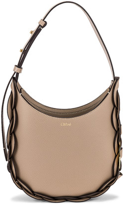 Chloé Small Darryl Hobo Shoulder Bag in Motty Grey | FWRD