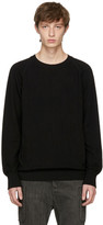 The Viridi-anne Black Cotton Crewneck Sweater
