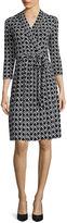 Liz Claiborne 3/4-Sleeve Chevron Wrap Dress