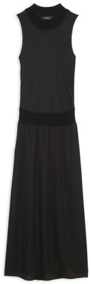 Theory Sleeveless Blouson A-Line Maxi Dress