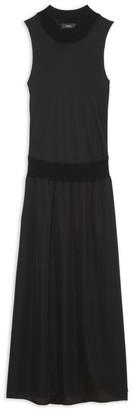 Theory Sleeveless Blouson A-Line Maxi Dress