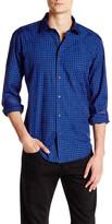 Bugatchi Check Print Long Sleeve Shaped Fit Shirt