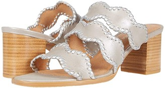 Jack Rogers Logan Mid Heel (Silver) Women's Shoes