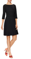 Carolina Herrera Wool 3/4 Sleeve Pleated Dress