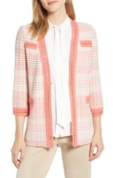 Ming Wang Stripe Knit Jacket