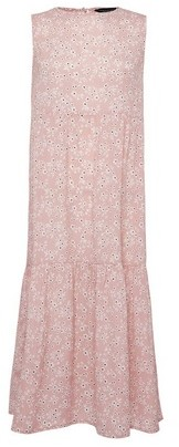 Dorothy Perkins Womens Pink Floral Print Sleeveless Tiered Midi Dress, Pink