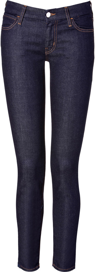 Koral Dark Blue Mid-Rise Jeans