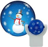 Projectables Holiday Snowman Automatic LED Night Light