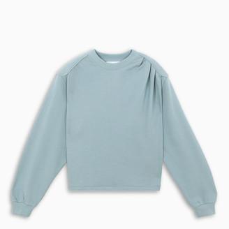 REMAIN Birger Christensen Light blue padded shoulders sweatshirt