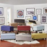 Inspire Q Sauganash Linen Lift Top Storage Bench by